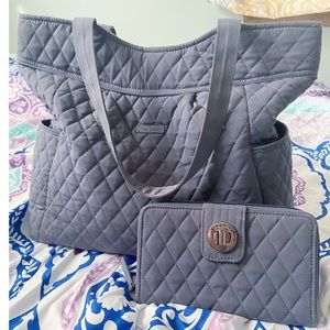 Vera Bradley Tote Bag and Wallet Set